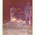 Épluchette de blé d'inde, photo date : été 1973, coll. : Marina Boucher