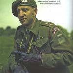 Lieutenant-colonel Paul Mathieu, commandant du Régiment de la Chaudière lors du débarquement de Normandie, date non précisée, source : Hold the oak line, Frederick Jeanne