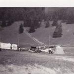 Camping Manche-d'Épée en haut de la rivière, date : fin des années 1960, coll. : Marie Fournier