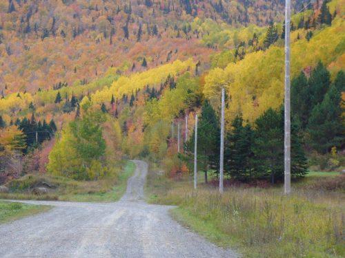 Là où la rue de la Rivière devient la route de la Rivière, date : 2012, photo : Blandine Mercier