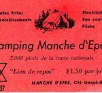 Carte de visite du Camping Manche-d'Épée, date : fin des années 1960, coll. : Marie Fournier