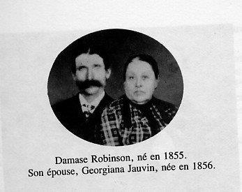 Damase Robinson (1855-1927) et son épouse Georgiana Gauvin (1856 - ?), photo date : inconnue; fond Lucille Pelchat, coll. : Hélène Fournier