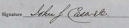 Signature de John S. Caswell