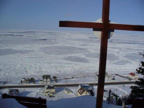 Village vu de la croix, date : février 2013, photo : Blandine Mercier.