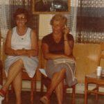 Alphéda Pelchat et son amie Mme Jacqueline Goyens, date : vers 1976 ou 77, coll : famille Fournier