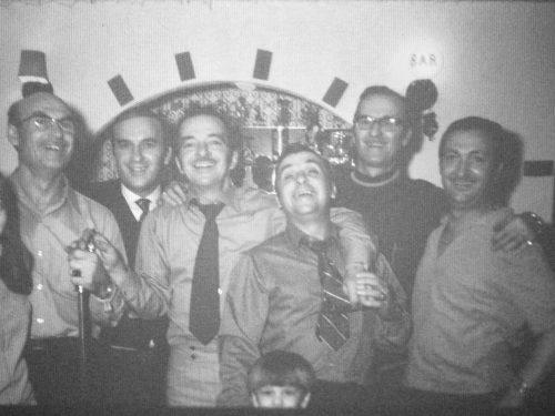 Alcide «Ti-Dé»à gauche et cinq de ses frères, année inconnue, coll.: Richard Davis