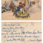 Carte de voeux, date: années 1920, coll.: Ernest Boucher et Blandine Mercier