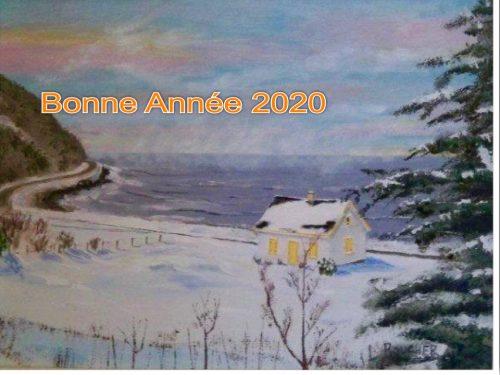 La maison Béland : une fière doyenne (Léonard Boucher), 1995, huile sur toile, coll. Lauraine Bernier