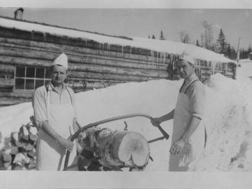 Cuisiniers de chantier, Z. Laflamme et J. Boucher, date: 194-?, coll.: Thérèse Bond