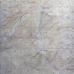 Détail (au sud du Lac-au-Diable) de la carte intitulée Grande-Vallée publiée par le ministère fédéral de l'Énergie, des Mines et des Ressouces, 1980. Cette carte m'a été confiée par Mme Rita Blanchette que je remercie infiniment
