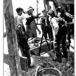 La pesée sur une balance romaine, tirée de l'étude sur la Gaspésie d'Alfred Pellan, 1914