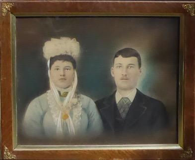 Mariage de Rose-Delima et de Napoléon, 1e juillet 1884, fonds Lucille Pelchat, coll.: Mariette Fournier