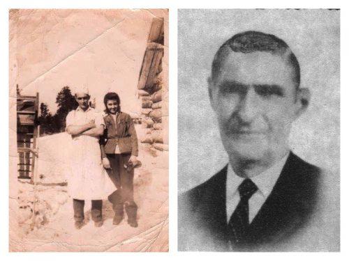 Ovias Boucher, 1er président.: à g. avec Aline Boucher, date:1947, coll.: Florence Pelchat; à d. date inconnue, coll.: Marguerite Boucher