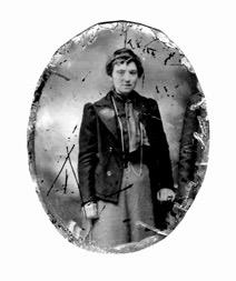 Regina Davis, date inconnue, daguerréotype, fonds Lucille Pelchat, coll.: Mariette Fournier