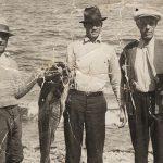 Retour de pêche, Simon-Jude, Sylvio et Joseph Boucher, vers 1940, coll.: Langis Clavet