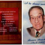 L'Association rend hommage au pionnier Roméo Boucher pour 45 années de vie sportive, date: vers 1980, coll.: Jocelyn Boucher