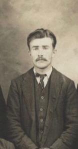 Stanislas Fournier, premier maitre de poste, photo vers 1900, coll.: Mario Lévesque