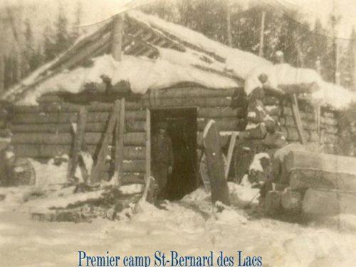Camp de la colonie de Saint-Bernard-des-Lacs qui a été ouverte à la même époque que celle du Lac-au-Diable