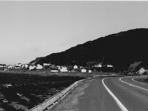 pour tout rempart, une pièce de cèdre de 20 centimètres... , vers 1980, photo: B.Boucher